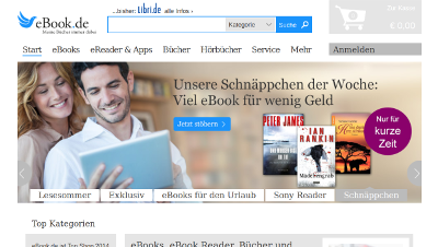 Redesign ebook.de (libri.de)